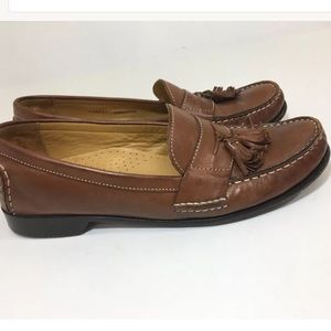 Cole Haan Mens Brown Leather Tassel Loafer SZ 9.5